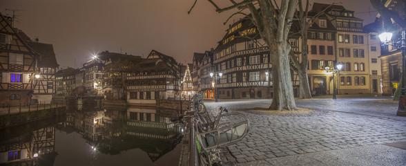 Strasbourg, Petite France la nuit
