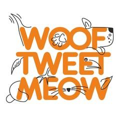 Animal, veterinarian, slogan, banner, logo