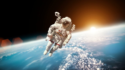 Astronaut in outer spaceElements  this image furnished by NASA