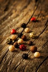 Colorful pepper (peppercorns) close up (macro)