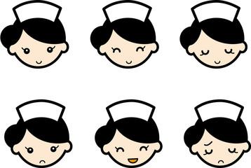 表情・看護婦