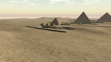 Animation of the Giza platform Egypt in 3D