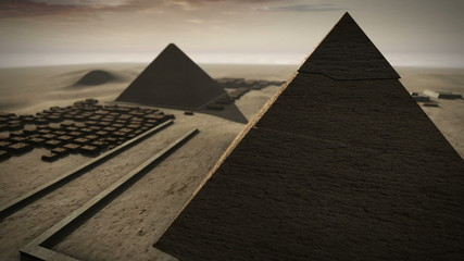 Giza platform Egypt animation in 3D