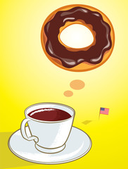 coffee donut
