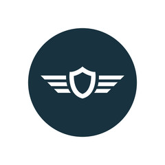 shield wings icon