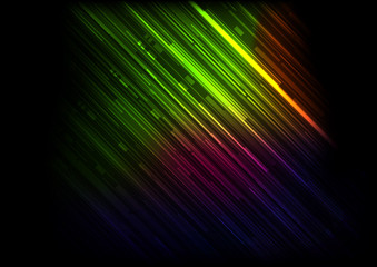 Abstract Lines Colorful Background