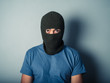 Scary man wearing a balaclava