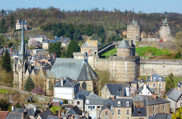 The Chateau de Fougeres (France) spring view.