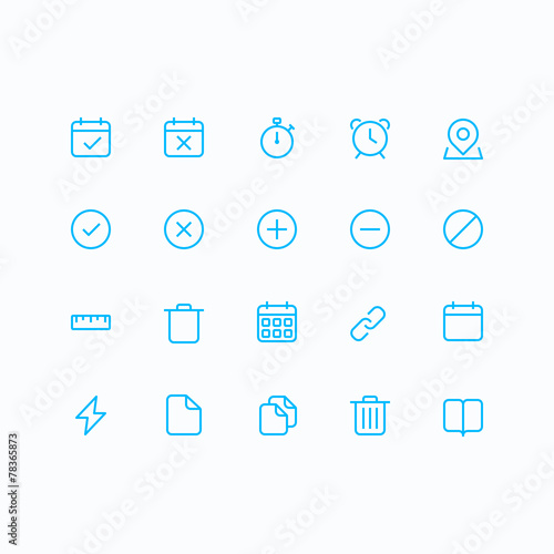 Outline vector icons for web and mobile. - 78365873