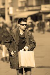 Man in shopping