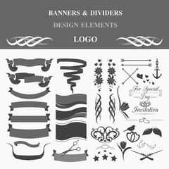 Retro badges design logo. Template