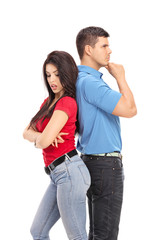 Conflicted couple not talking to each other