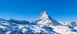 Panorama view of Matterhorn on a clear sunny day - 78367097