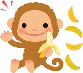 猿とバナナ