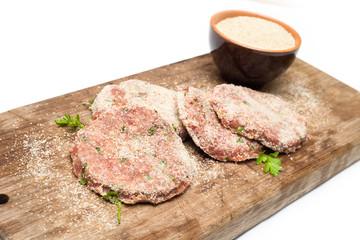 Hamburger freschi impanati