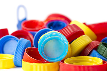 Plastic Bottle Caps with Negative Space
