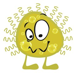 cartoon bacteria germs