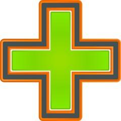 illustration of green cross