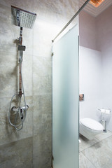 Shower space in a bathroom