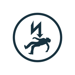 electrocution risk icon