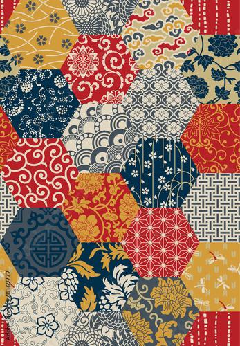 Oriental style seamless vector pattern - 78369272