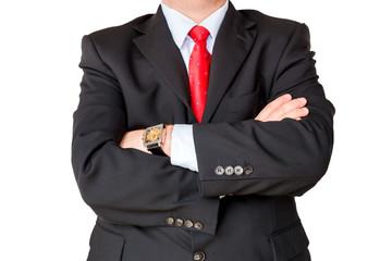 Geschäftsmann verschränkt Arbeit