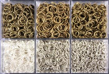 Binderinge in Bronze und Silber, Schmuck basteln