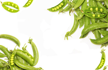 fresh green pea,food background