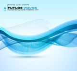 Fototapety Abtract waves background for brochures and flyers design.