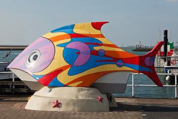 Skulptur im Hafen von Breskens