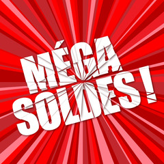 """MEGA SOLDES"" (courses shopping publicité marketing)"