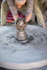 Potter in Bhaktapur, Kathmandu