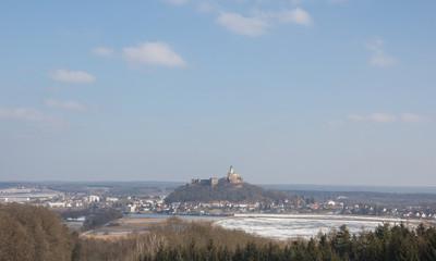 View To Castle Güssing in Burgenland Austria