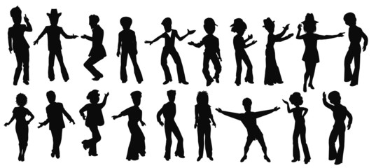 dancers from funk town in silhouette