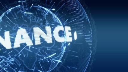 World News Banking Finance Intro Teaser blue