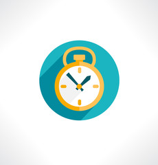 Clock icon. Flat design. Vector. Editable.