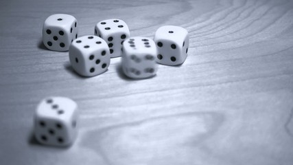 Dice in slow motion