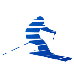 Abstract downhill skier