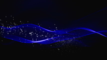 abstract background - waves with stars (loopable)