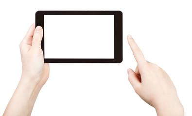 finger clicking tablet pc with cut out screen