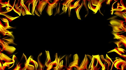 abstract background - flames frame (loopable)