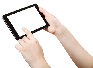 finger press tablet pc with cut out screen