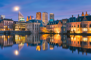 Skyline of The Hague in the Netherlands