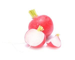 garden radish isolated on white background