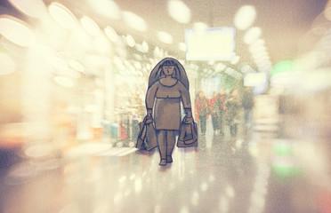 Conceptual illustration, shopping