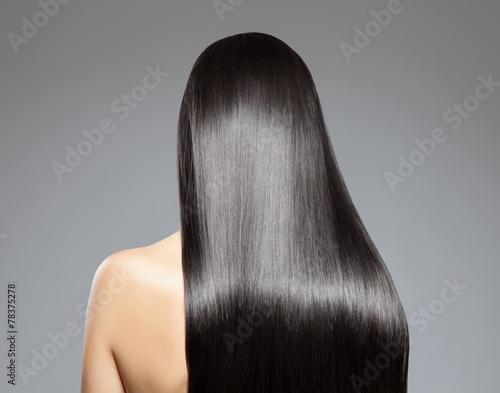Poster Long straight hair