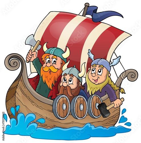Viking ship theme image 1 - 78375662