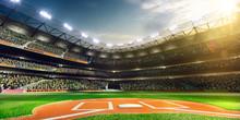 "Постер, картина, фотообои ""Professional baseball grand arena in sunlight"""