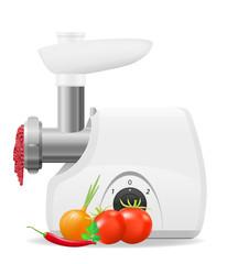 electric kitchen grinder vector illustration