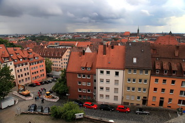 NURNBERG, GERMANY - JULY 13 2014. Cityescape of Nuremberg, Germa